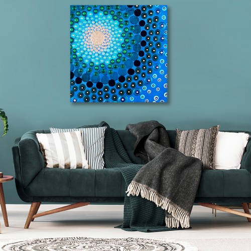 Canvas - Vibrant Blue