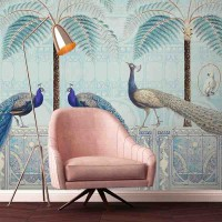 Chinoiserie Birds Palace – Sapphire